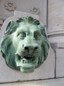 Johnson Gate,North Tower,AT2,detail,North2 lion head