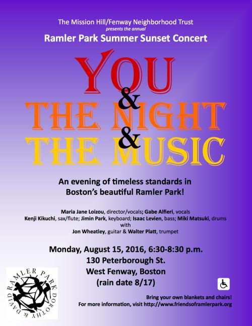 Ramler Park Concert 2016 Poster