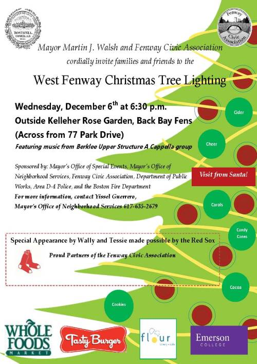 West Fenway 2017 Tree Lighting
