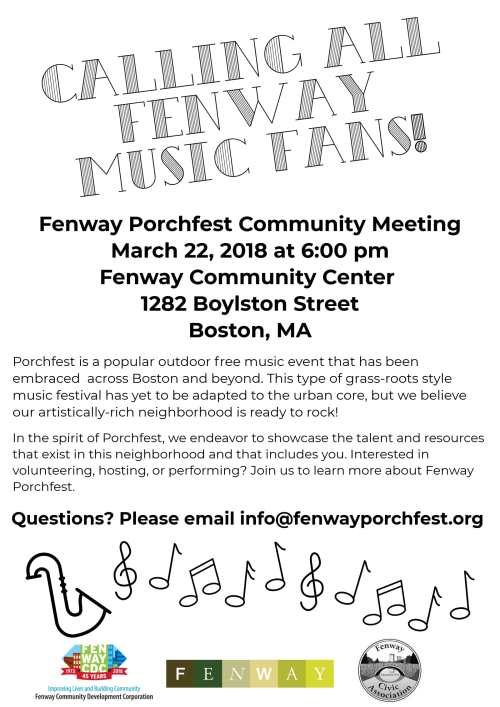 Porchfest Meeting Flyer