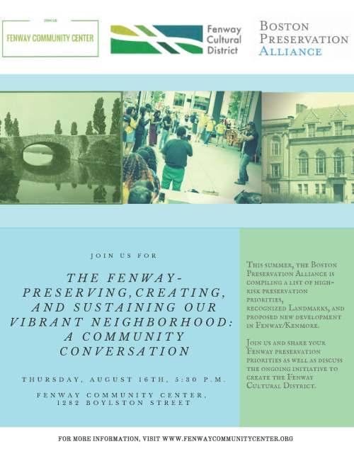 Fenway Preservation and Cultural District meeting