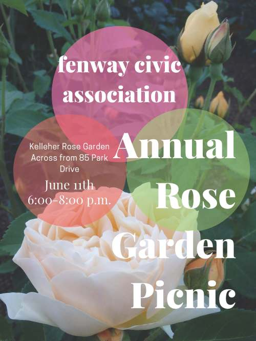 Rose Garden Picnic Save the Date 2019